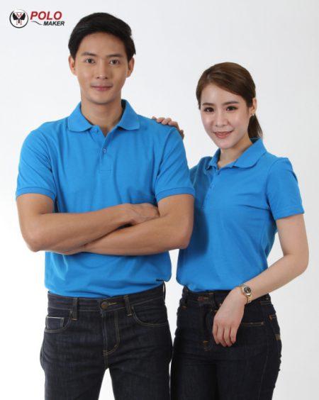 เสื้อโปโล COOLPLUS CP06 ผู้หญิง สีฟ้า pmkpolomaker06