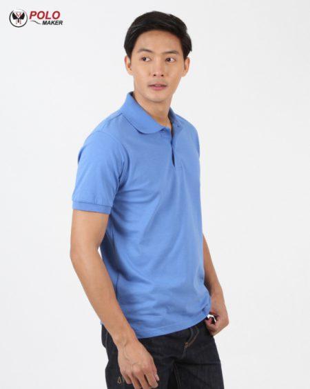 เสื้อโปโล CoolPlus CP011 ผู้ชาย สีฟ้า pmkpolomaker