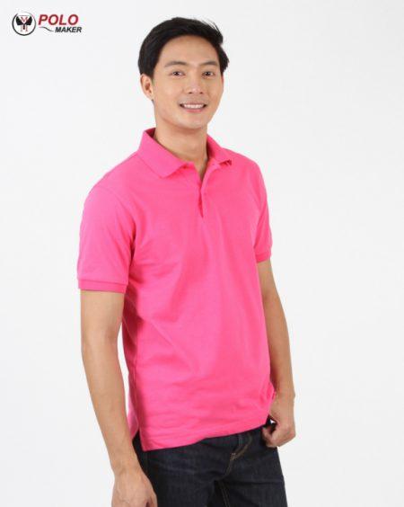 เสื้อโปโล CoolPlus สีบานเย็น CP014 ผู้ชาย02 pmkpolomaker