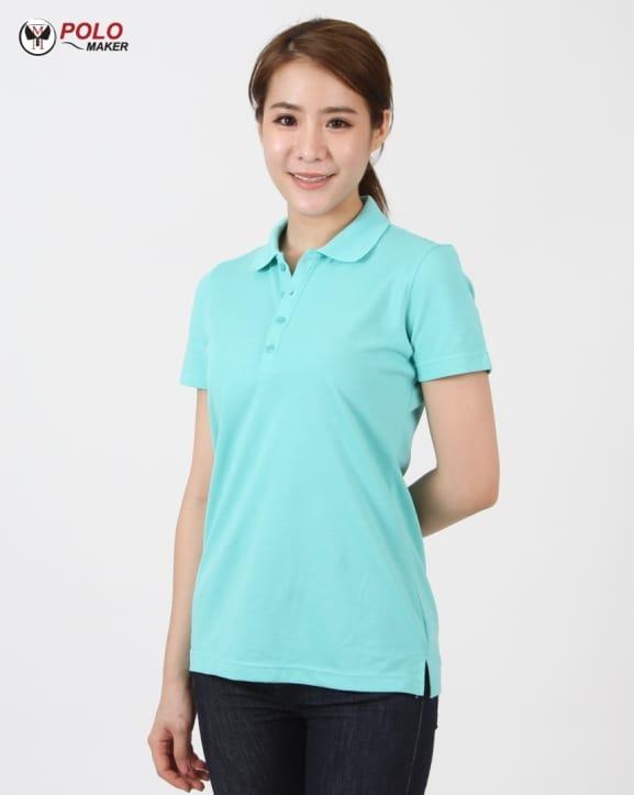 เสื้อ CQ026 เสื้อโปโลผู้หญิง03 pmkpolomaker