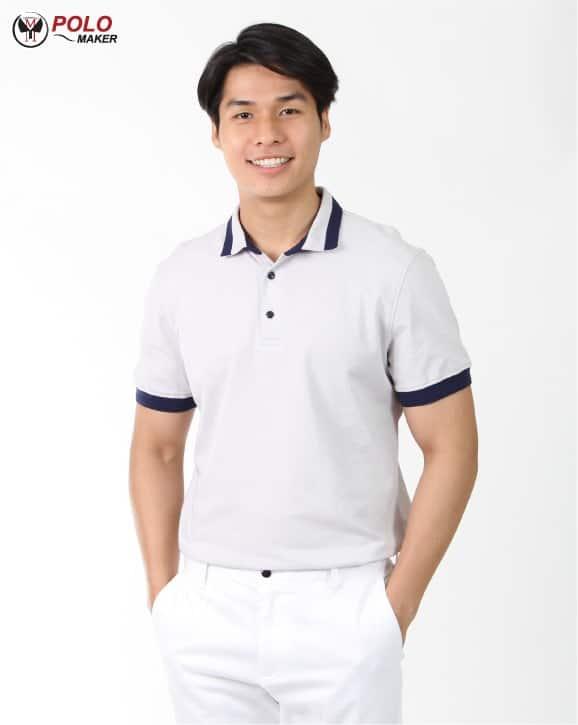 เสื้อ CoolPlus Cozy ผู้ชาย สีขาว02 CZ001 PMKpolomaker