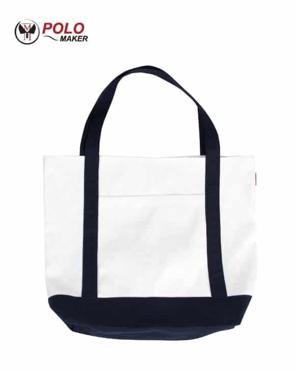 กระเป๋าผ้าแคนวาส สีน้ำเงิน pmkpolomaker