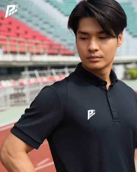 เสื้อกีฬา PM Sport สีดำ