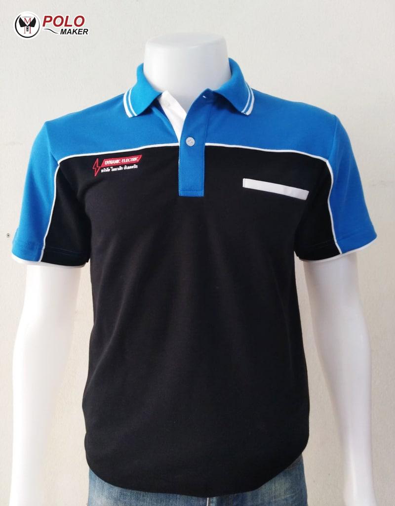 ตัวอย่างเสื้อโปโล PMK Polomaker แบบที่ 1