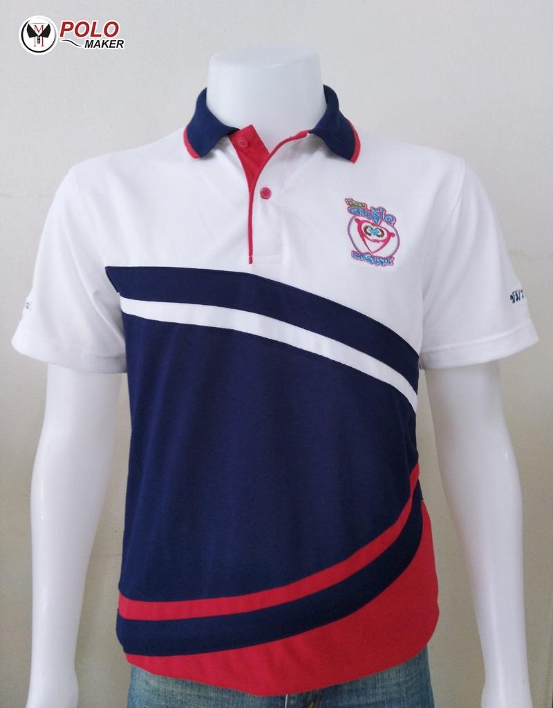 ตัวอย่างเสื้อโปโล PMK Polomaker แบบที่ 10