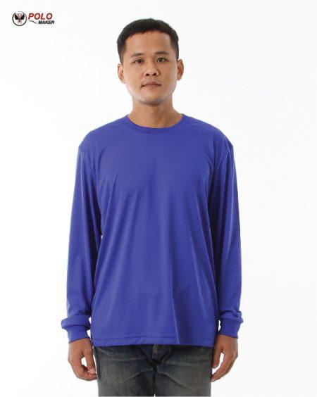 เสื้อคนงานแขนยาว สีน้ำเงิน lpi pmkpolomaker