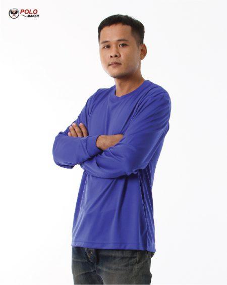 เสื้อคนงานแขนยาว สีน้ำเงิน03 lpi pmkpolomaker