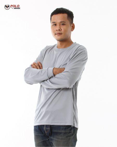 เสื้อคนงานแขนยาว สีเทา02 LPI PMKPOLOMAKER