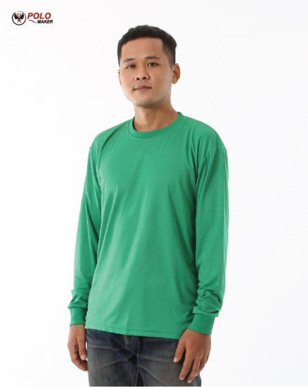 เสื้อคนงานแขนยาว lpi สีเขียว02 pmkpolomaker