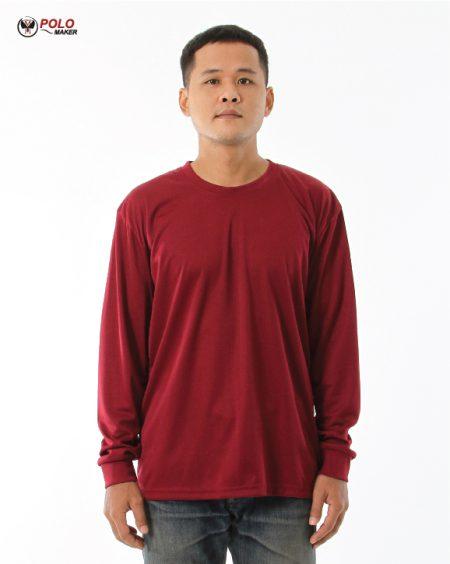 เสื้อคนงานแขนยาว LPI สีแดงเลือดนก pmkpolomaker