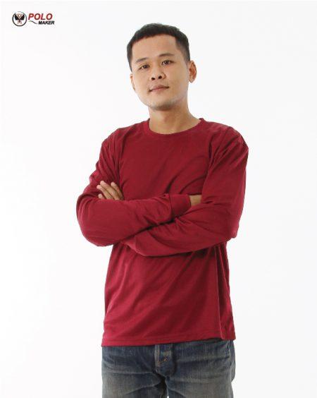 เสื้อคนงานแขนยาว LPI สีแดงเลือดนก03 pmkpolomaker