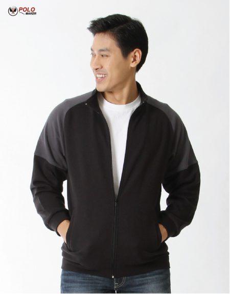 เสื้อวอร์ม Active warm สีดำ-เทา02 หนานุ่ม ใส่สบาย