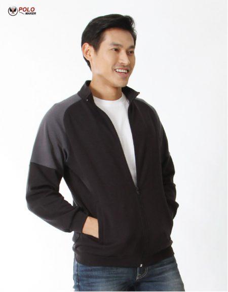 เสื้อวอร์ม Active warm สีดำ-เทา01 หนานุ่ม ใส่สบาย